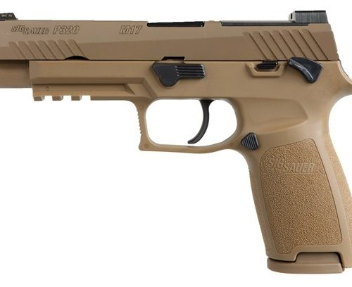 SIG SAUER P320 M17 9MM PISTOL, TAN COYOTE - MS - 320F-9-M17-MS